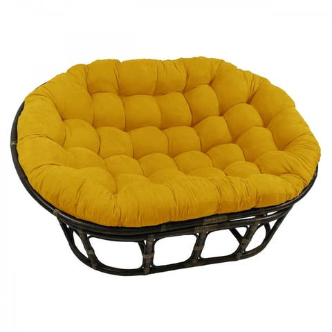Blazing Needles 78-inch Microsuede Double Papasan Cushion