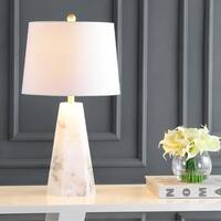 "Xio 25.5"" Alabaster LED Table Lamp, White by JONATHAN  Y"