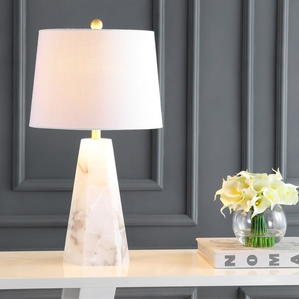 "Xio 25.5"" Alabaster LED Table Lamp, White by JONATHAN Y. Opens flyout."