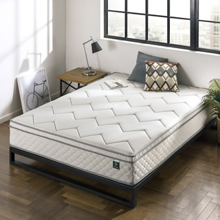Priage by Zinus 12 Inch Charcoal Euro Top Bonnel Spring Mattress