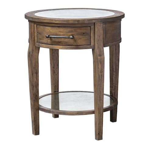 Uttermost Raelynn Weathered Pecan Wood Lamp Table