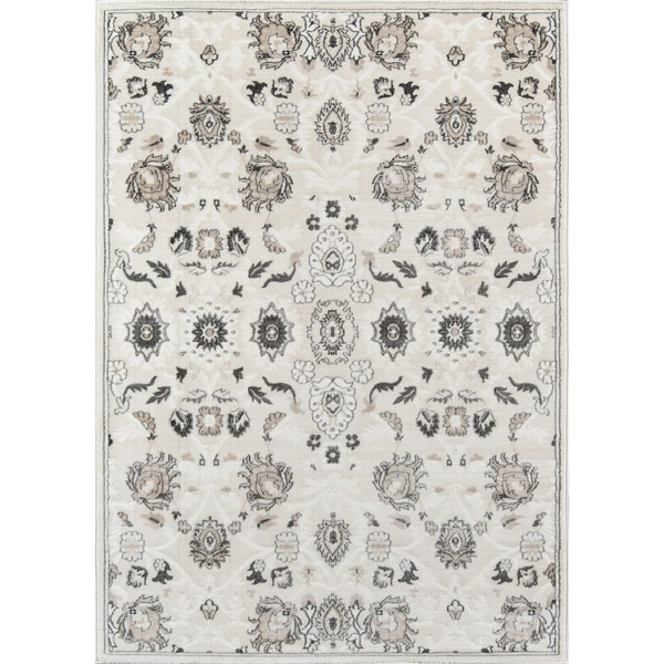 "Momeni Carroll Gardens Machine Made Polyester Ivory Area Rug - 7'10"" x 9'10"""