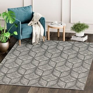 Eden Contemporary Abstract Grey/ Ivory Indoor Rug