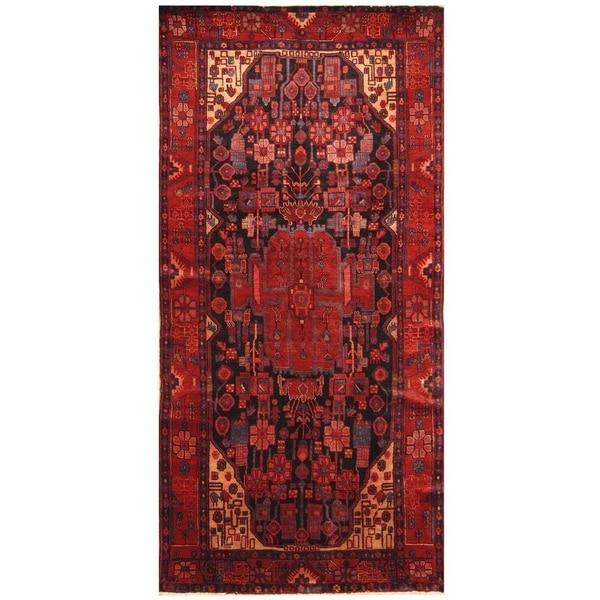 Handmade Nahavand Wool Rug (Iran) - 5' x 9'10