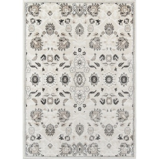 "Momeni Carroll Gardens Machine Made Polyester Ivory Area Rug - 3'11"" x 5'7"""
