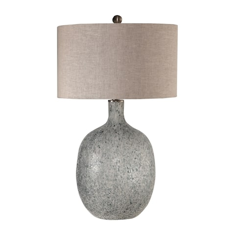 Uttermost Oceaonna Textured Aged White Glass Table Lamp
