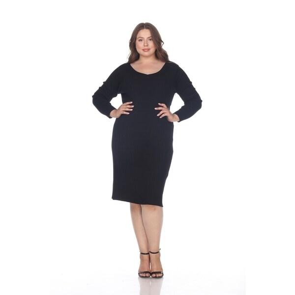 Shop White Mark Womens Plus Size Destiny Sweater Dress Free