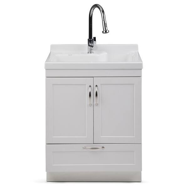 Wyndenhall Janine Transitional 28 Inch Laundry Cabinet