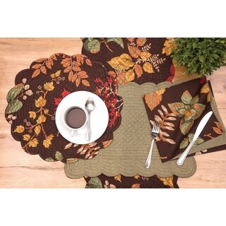 Emerson Rustic Cotton Quilted Placemat Set of 6 - N/A