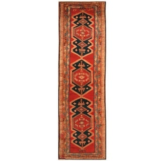 Handmade Ardabil Wool Rug (Iran) - 4' x 13'