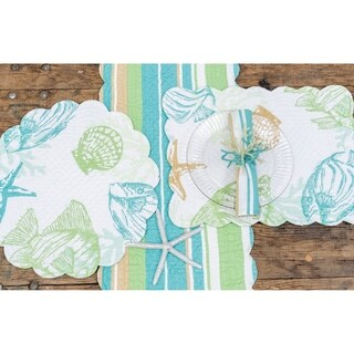 Finley Coastal Cotton Quilted Placemat Set of 6 - N/A