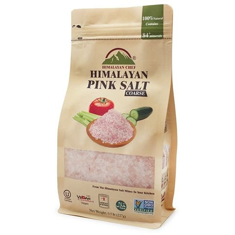 Himalayan Chef Pink Salt Coarse Stand Up Pouch, 0.5 lbs