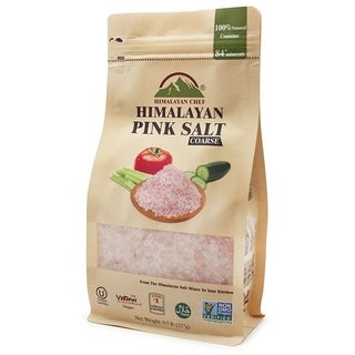 Himalayan Chef Coarse Stand up Pouch with Window Pink Salt, 0.5 lbs