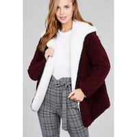 JED Women's Reversible Fluffy Fleece Oversized Jacket