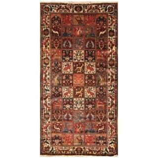 Handmade Herat Oriental Persian Hand-knotted Semi-Antique Bakhtiari 1940's Wool Rug (5'2 x 10'1)