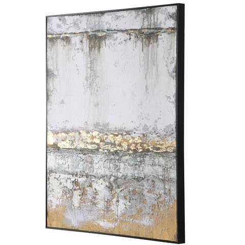 Uttermost The Wall Black Abstract Art - Brown/Multi-color/White