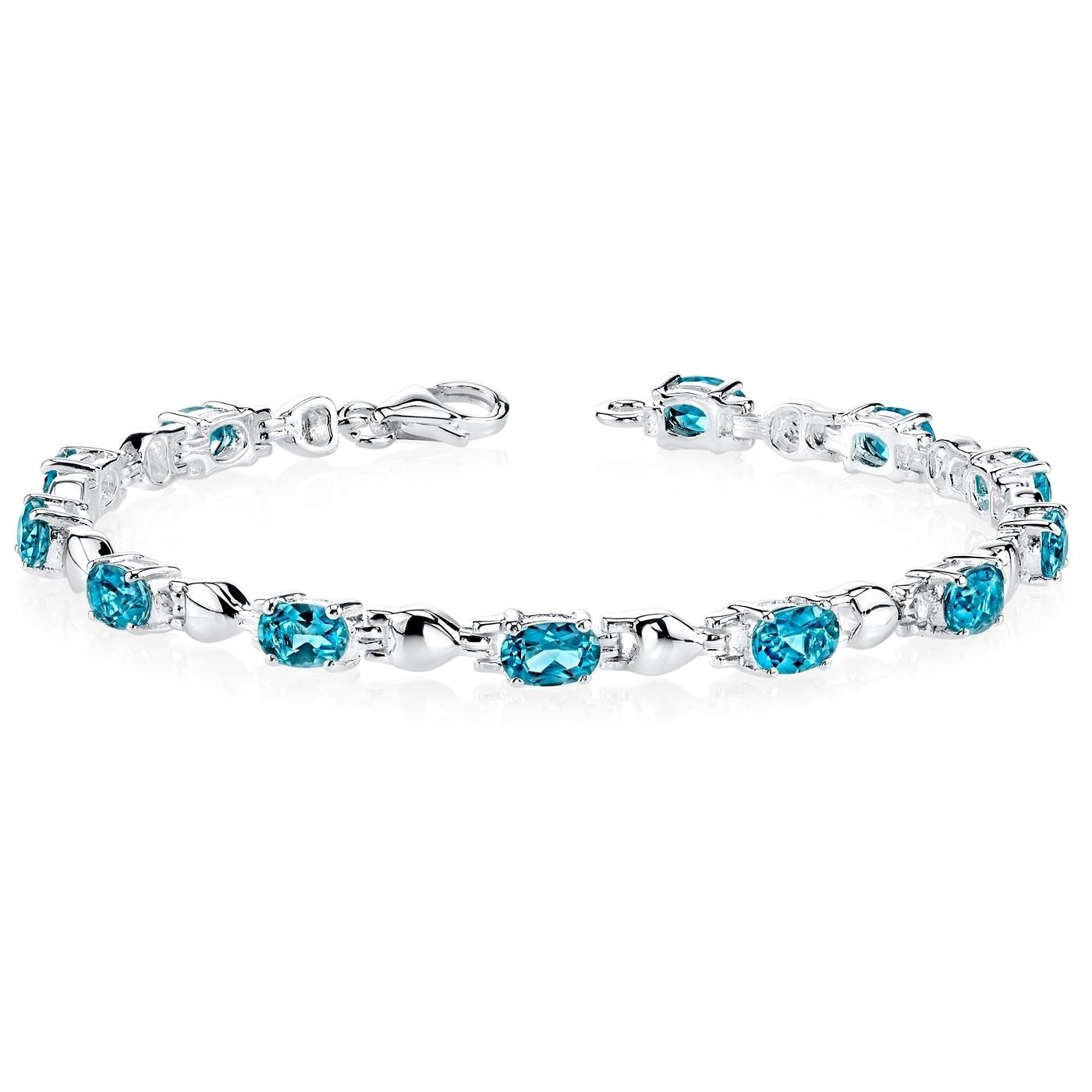 Amethyst Bracelet Sterling Silver Pear Shape 5.50 Carats