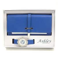 Women's Essentials - Matching Women's Watch & Colorful 2 Layer Design Wallet Gift Set - ST10234 Royal Blue