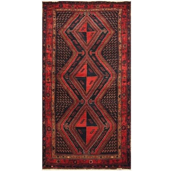 Handmade Nahavand Wool Rug (Iran) - 4'10 x 9'5