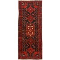 Handmade Herat Oriental Hand-knotted Persian Semi-antique 1960s Nahavand Wool Rug (3'7 x 9'2)