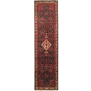 Handmade Hamadan Wool Rug (Iran) - 3'6 x 13'10