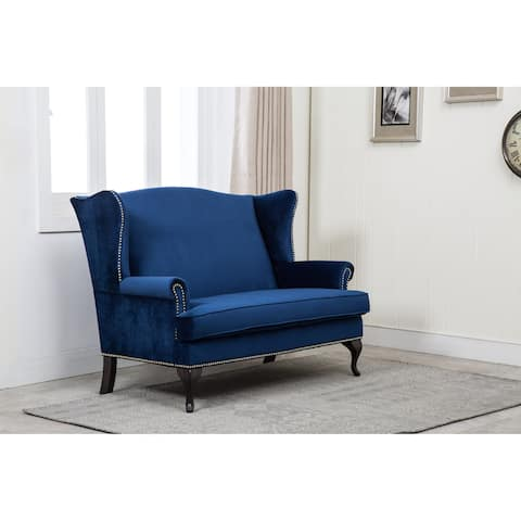Best Quality Furniture Winged Loveseat
