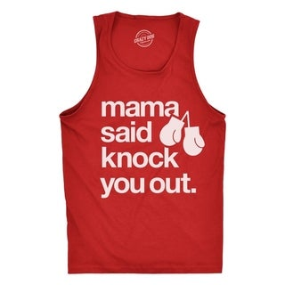 Mens Fitness Tank Mama Said Knock You Out Tanktop Funny Rap Lyrics Boxing Sleeveless For Guys