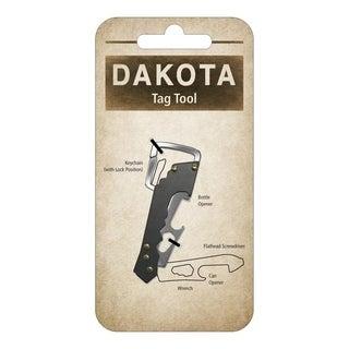 Dakota Stainless Steel Key-Sized 4-in-1 Multi-Tool & Locking Keychain - charcoal