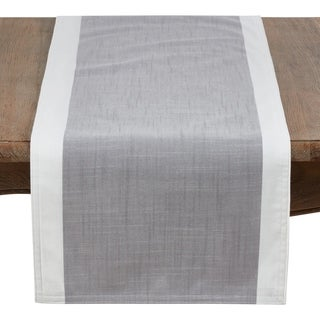 """Poly Runner With White Band Border - 16"""" x 72"""""""