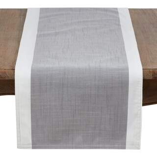 Poly Runner With White Band Border
