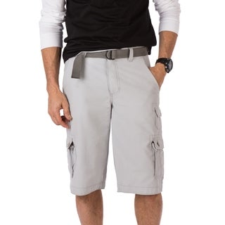 Wear First Cotton Nylon Belted EDC Cargo Short- Light Grey