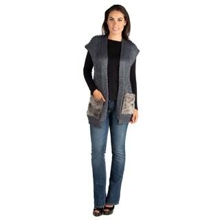 24/7 Comfort Apparel Embellished Pocket Sweater Vest