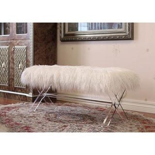 Link to Best Quality Furniture X-Leg Faux Fur Bench Similar Items in Living Room Furniture