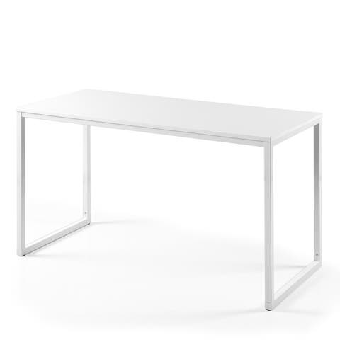 Priage by Zinus Soho Rectangular Table Only, Office Desk, 55 Inch Vanilla