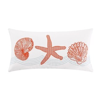 Cora Embroidered 12x24 Throw Pillow