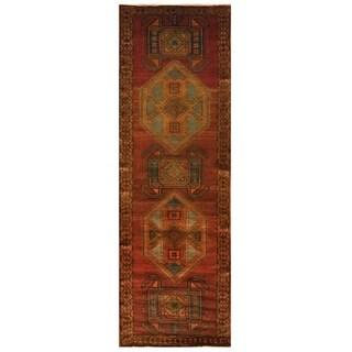 Handmade Ardabil Wool Rug (Iran) - 4' x 12'5