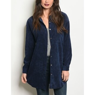 JED Women's Relax Fit Corduroy Tunic Overshirt