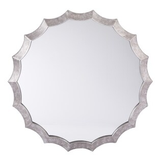 OSP Home Furnishings Wesley Beveled Mirror in Silver Finish