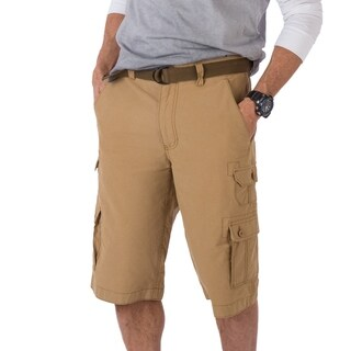Wear First Cotton Nylon Belted EDC Cargo Short- Bronze