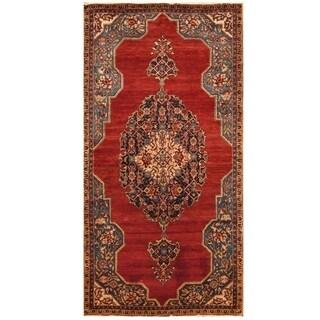 Handmade Herat Oriental Hand-knotted Persian Farahan Wool Rug (5' x 9'9)