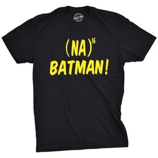 Mens Na16 Batman Tshirt Funny Sarcastic Science Comic Element Tee For Guys