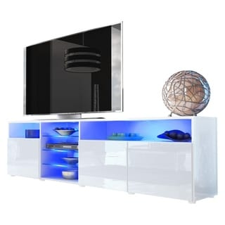 Link to Roma 79-inch Wide Glossy TV Stand with 16-color LEDs Similar Items in Living Room Furniture