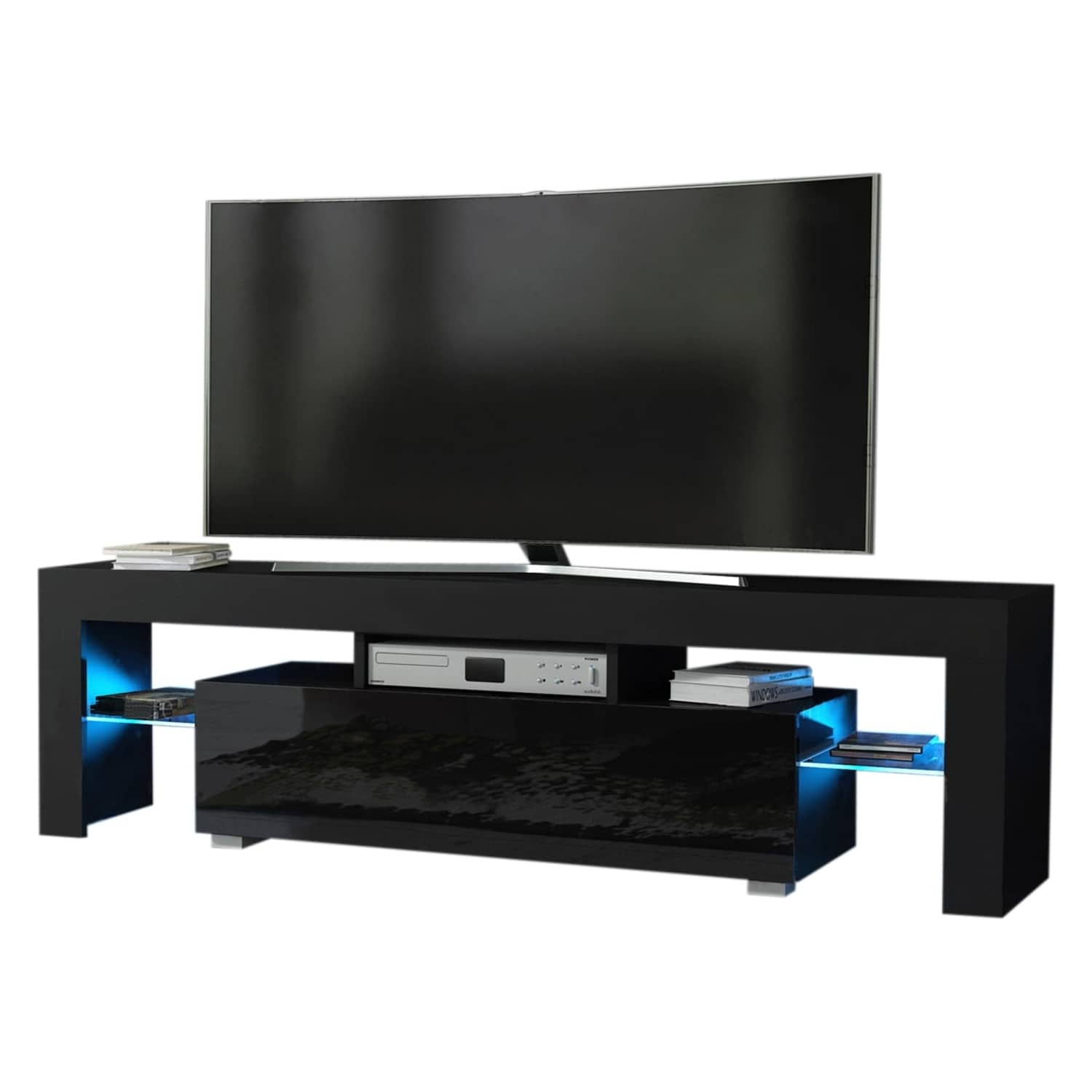Brisa Entertainment Unit: Glass And Chrome Tv Stands