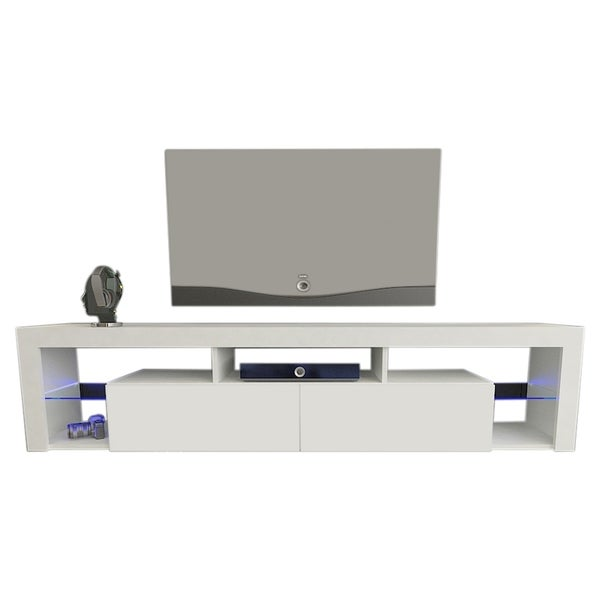 Shop Milano 200 Wall Mounted Floating 79 Tv Stand With 16 Color