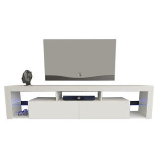 "Milano 200 Wall Mounted Floating 79"" TV Stand with 16 Color LEDs"