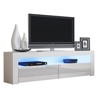 """Milano Classic Modern 63"""" TV Stand with 16 Color LEDs"""