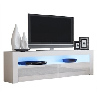 "Milano Classic Modern 63"" TV Stand with 16 Color LEDs"
