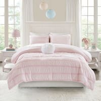 Mi Zone Diana Reversible Ruched Seersucker to Plush Comforter Set 2-Color Option