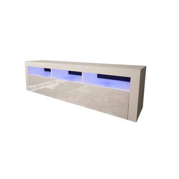 Shop Milano Classic Wall Mounted Floating 63 Tv Stand With 16 Color