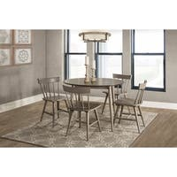 Carson Carrington Strangnas 5-piece Grey Dining Set with Spindle Back Chairs